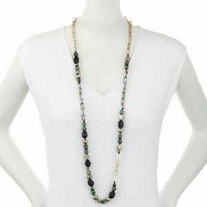 Alexis Bittar Long Crystal Chain Link Necklace